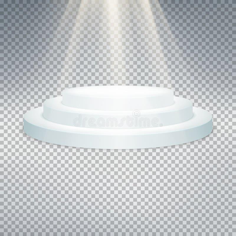 Temlate del podio blanco EPS 10 stock de ilustración