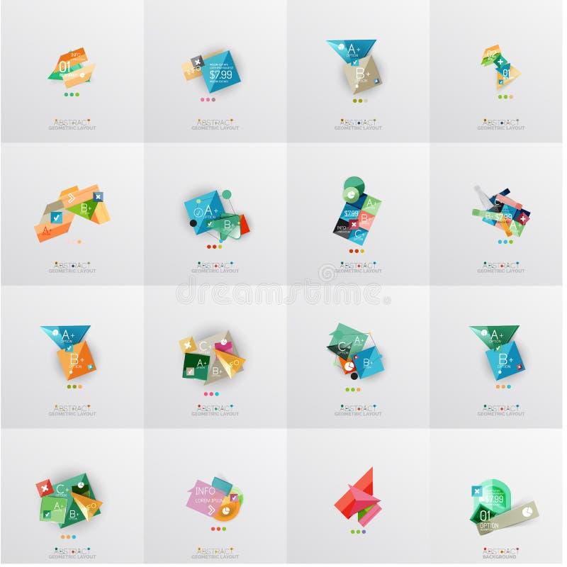 Temlates modernes de dessin géométrique, universels illustration de vecteur