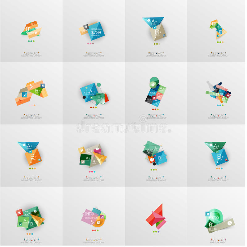 Temlates modernos del diseño geométrico, universales ilustración del vector