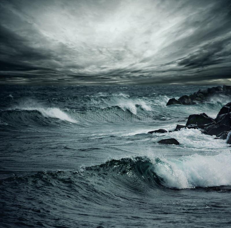 Tempête d'océan photo libre de droits
