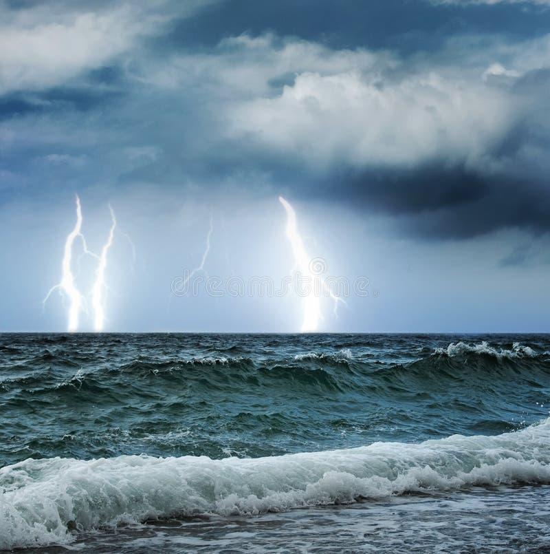 tempête d'océan photographie stock libre de droits