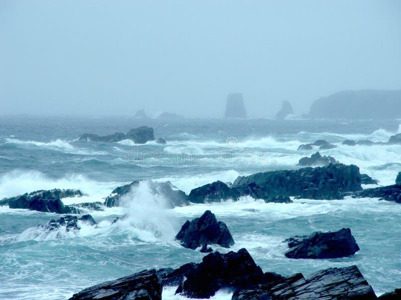 tempête d'océan de Terre-Neuve image stock