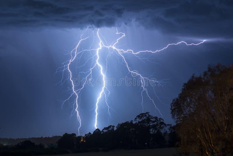Tempête de éclairage en Australie photo libre de droits