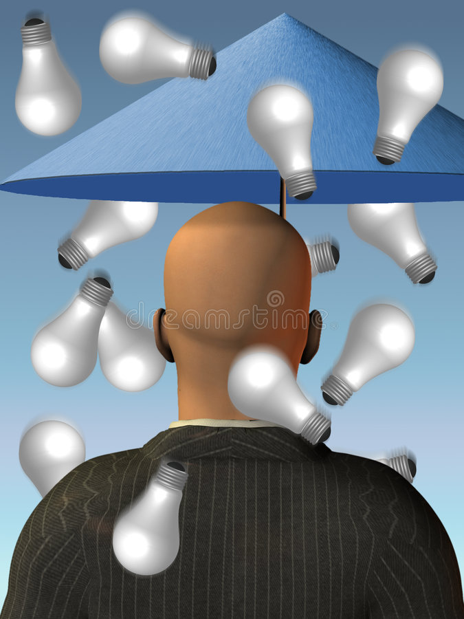 Tempête de cerveau - pluie des idées