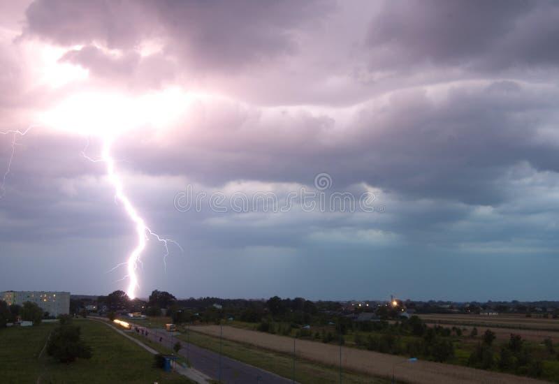 tempête de foudre photographie stock libre de droits