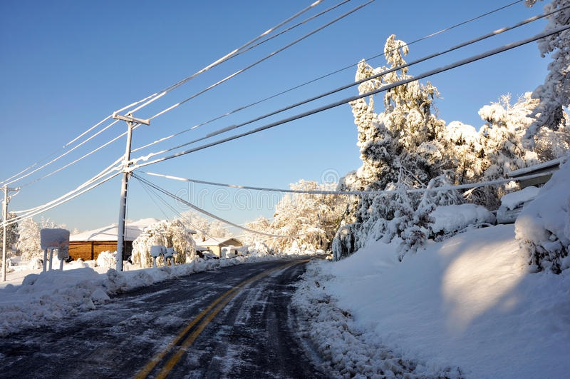 Tempête de l'hiver image stock