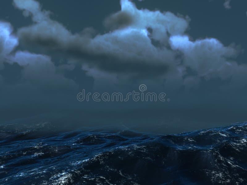 tempête de mer image libre de droits