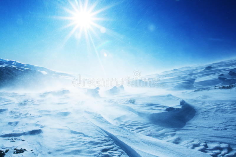 Tempête de neige image libre de droits