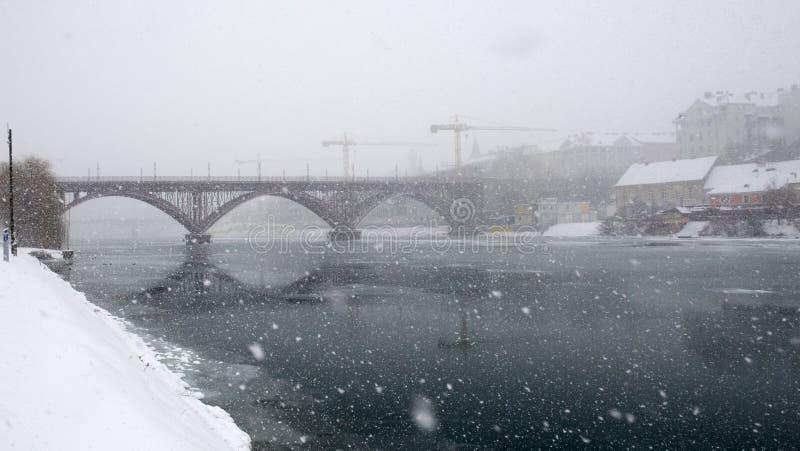 Tempête de neige photos stock