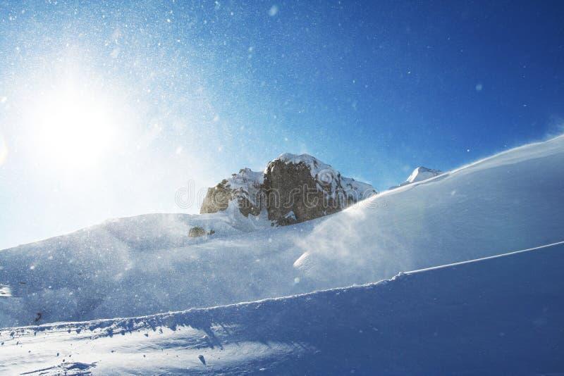 Tempête de neige photo libre de droits