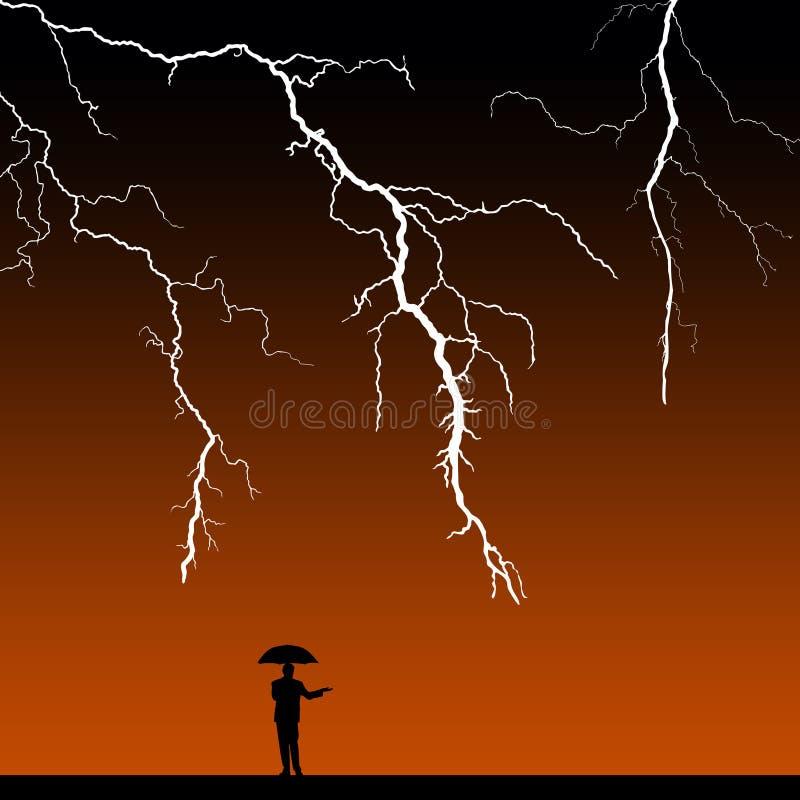 Tempête de Paasing illustration de vecteur