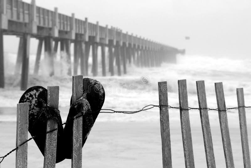 tempête de plage tropicale photo libre de droits