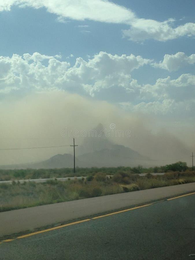 Tempête de poussière de crête de Pichacho photographie stock