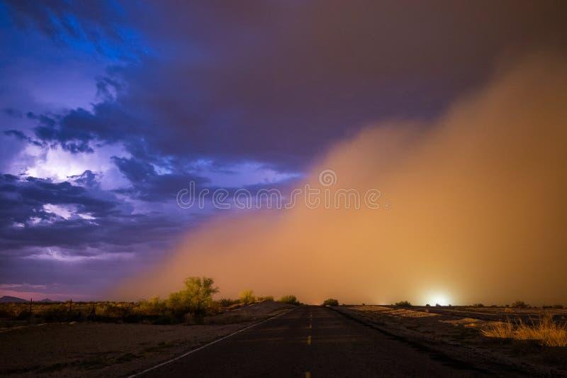 Tempête de poussière de Haboob dans le désert de l'Arizona photographie stock libre de droits