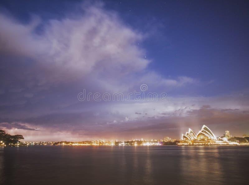 Tempête de Sydney images libres de droits