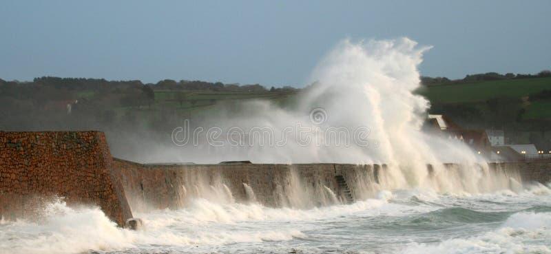 Tempête de Vizor, Guernesey image libre de droits