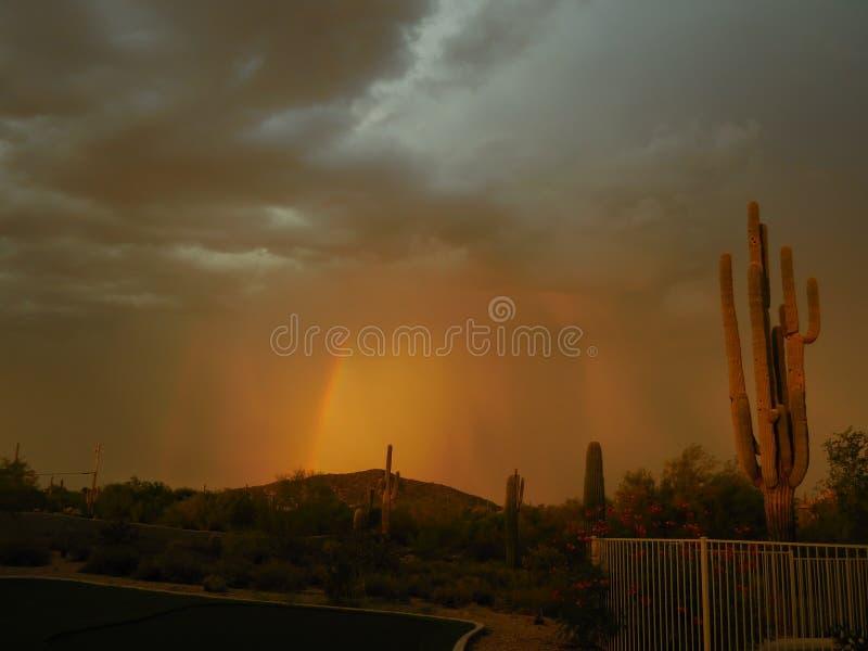 Tempête du désert de l'Arizona images libres de droits