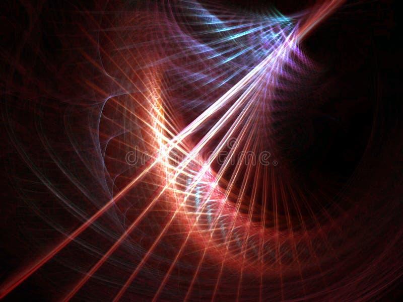 Tempête linéaire colorée illustration de vecteur