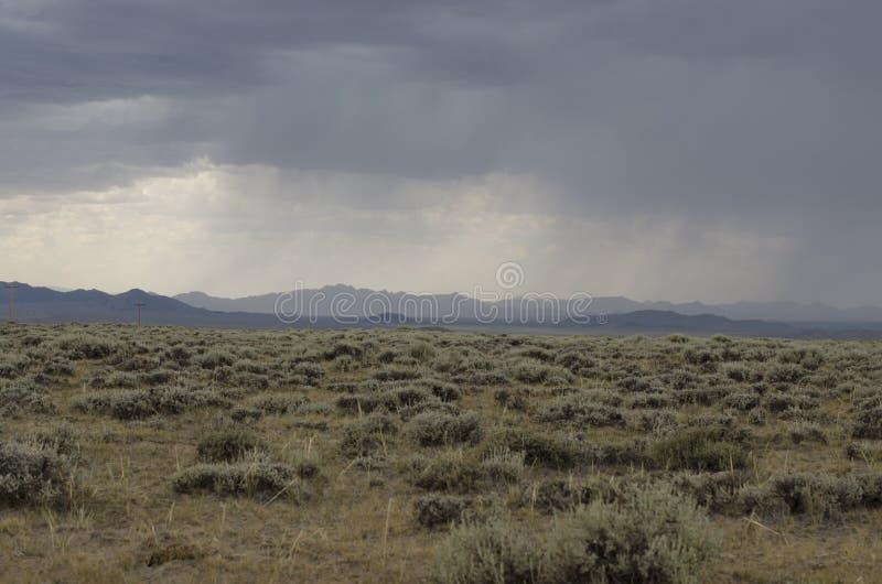 Tempête sur des plaines photo stock