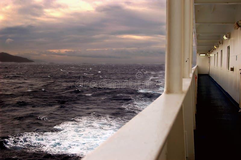 Tempête sur le ferry-boat  photos libres de droits