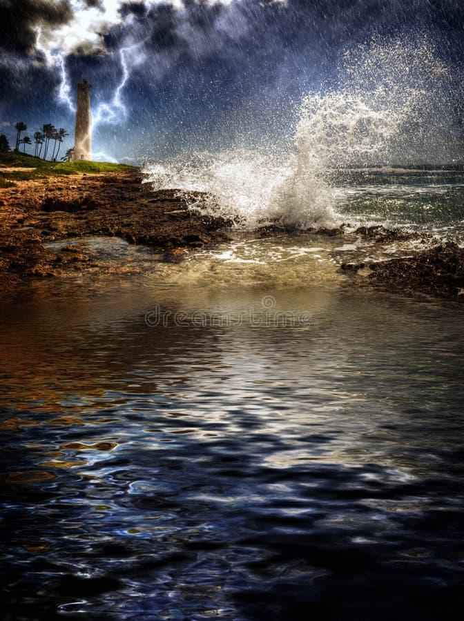 Tempête tropicale d'île image stock