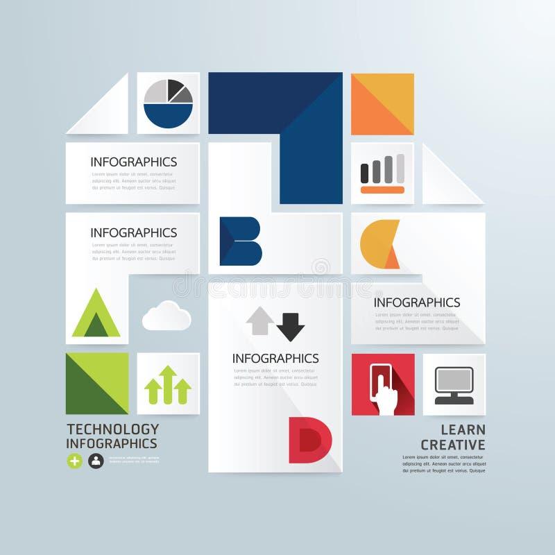 Temp минимального стиля современного дизайна infographic бумажный иллюстрация штока