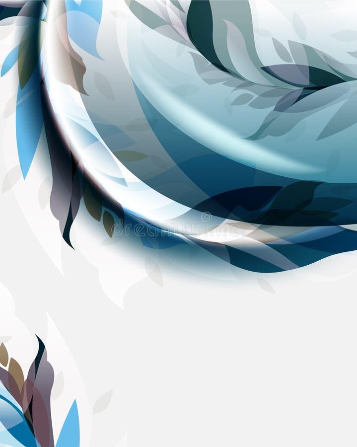 Temp abstrait élégant d'éléments de vague de feuillage de vecteur illustration de vecteur