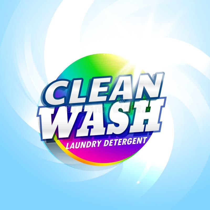 temp de empacotamento do projeto de conceito do produto do detergente para a roupa e do sabão ilustração stock