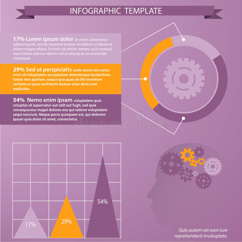 Tempate για infographic απεικόνιση αποθεμάτων