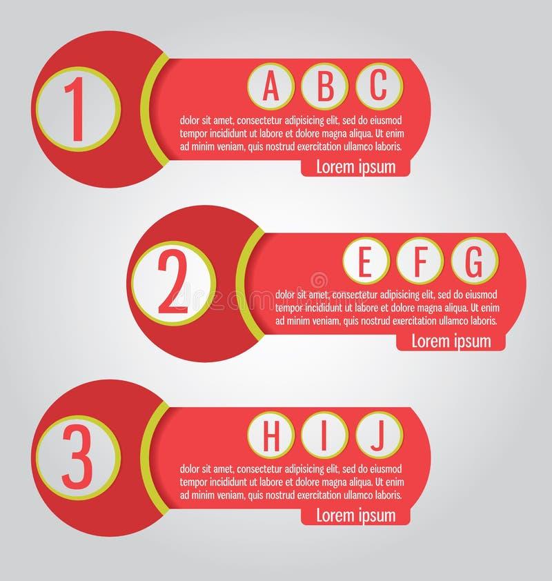 Tempate Peut être employé pour l'infographics, sites Web, paquets, adver illustration libre de droits