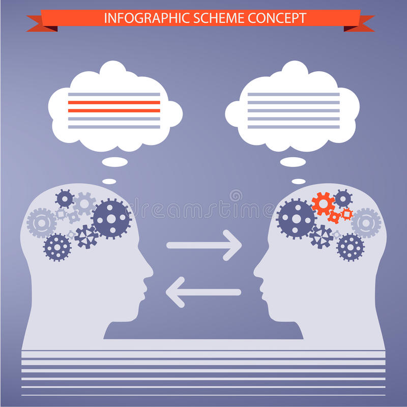 Tempate pour infographic illustration libre de droits