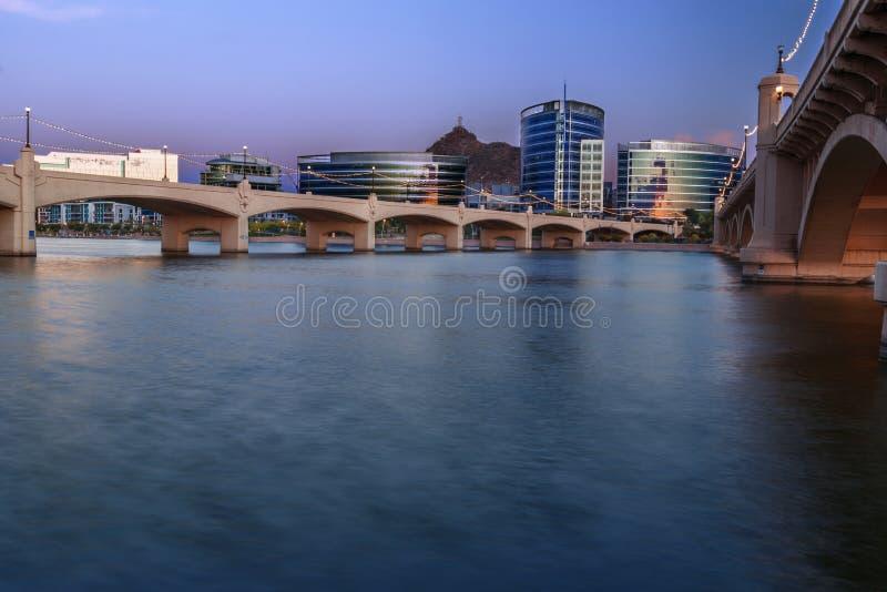 Tempe Αριζόνα στην μπλε ώρα στοκ φωτογραφία με δικαίωμα ελεύθερης χρήσης