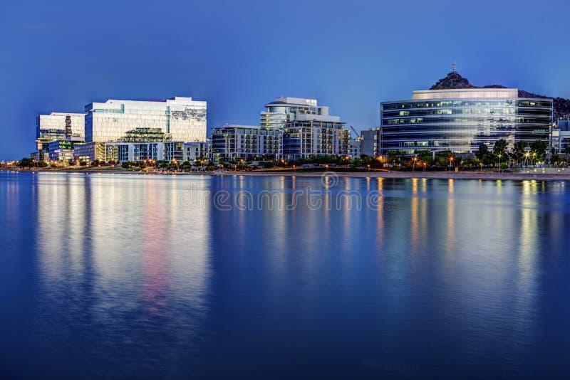 Tempe Αριζόνα στην μπλε ώρα στοκ εικόνες με δικαίωμα ελεύθερης χρήσης