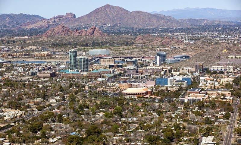 Tempe, горизонт Аризона стоковая фотография rf