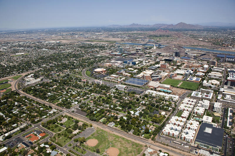 Download Tempe, Arizona from above stock image. Image of lake - 26514397