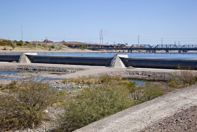 Download Tempe, Arizona Inflatable Dam Stock Image - Image: 26091061