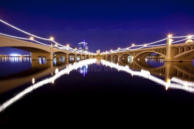 Tempe Bridges royalty free stock photo