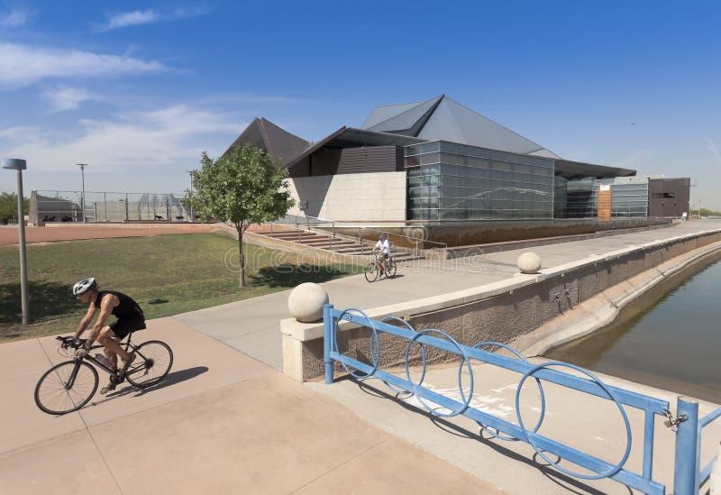 A Tempe Center For The Arts Biking Shot Editorial Photography