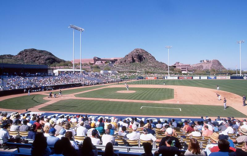 Tempe Diablo Stadium, Tempe Arizona images stock