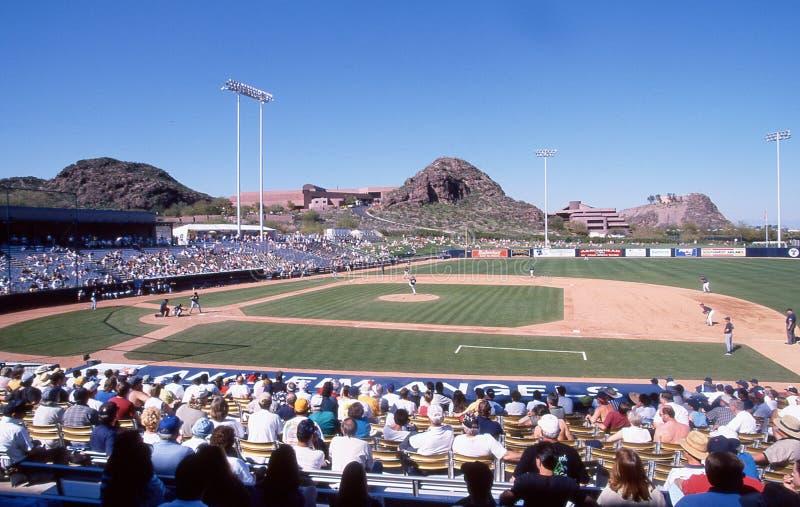 Tempe Diablo Stadium, Tempe Arizona stock afbeeldingen