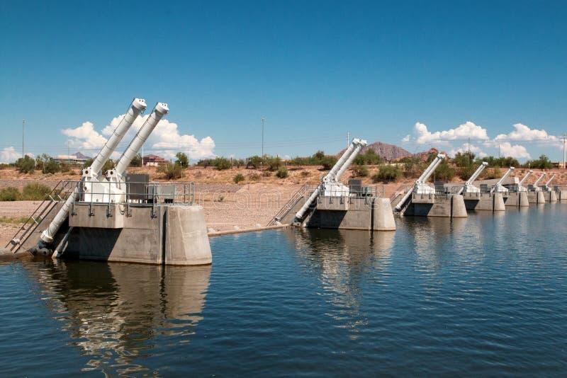 Tempe Town Lake Dam stock afbeeldingen