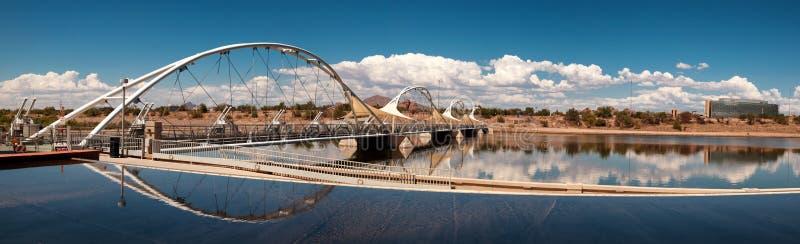 Tempe Town Lake Pedestrian Suspension bro arkivbilder