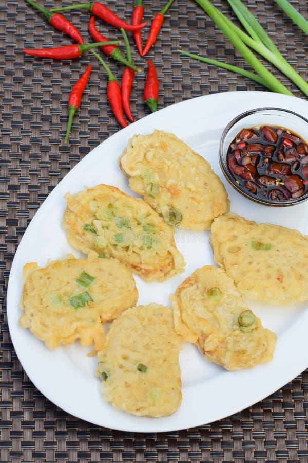 Tempeh Mendoan,印度尼西亚食物 免版税库存照片
