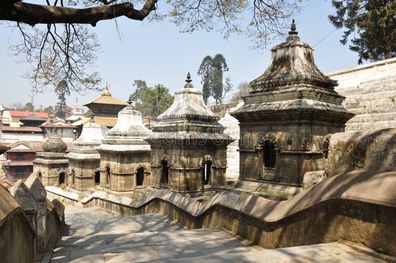 De Tempel van Pashupatinath stock foto's