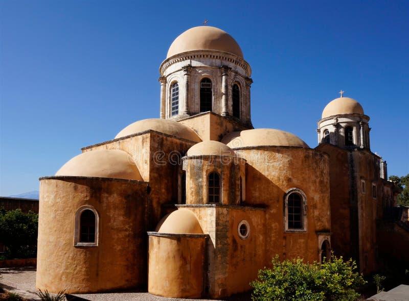 Tempel Agia Triada Kloster, Akrotiri, Kreta, Griechenland lizenzfreie stockbilder
