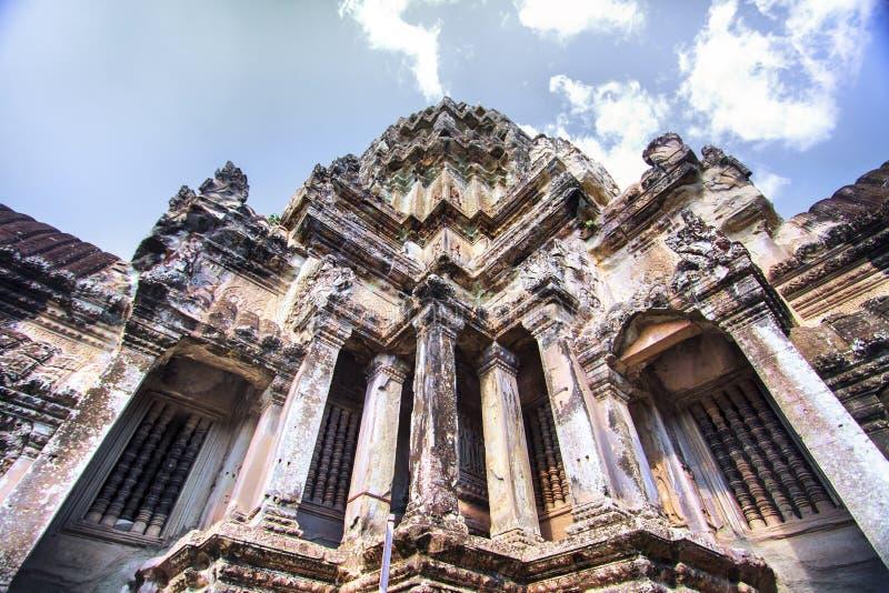 Tempel in Angkor Wat royalty-vrije stock afbeeldingen