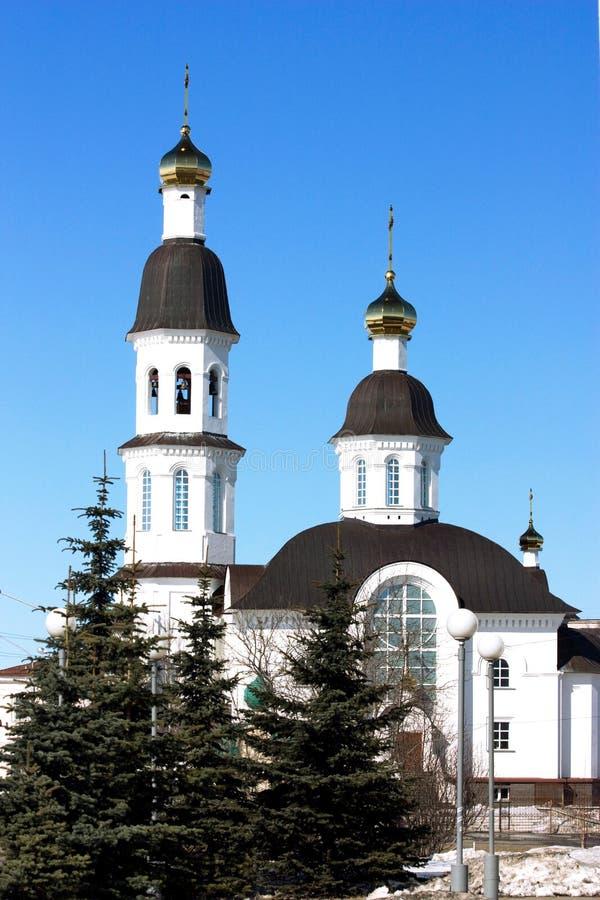 Tempel Arkhangelsk lizenzfreies stockfoto