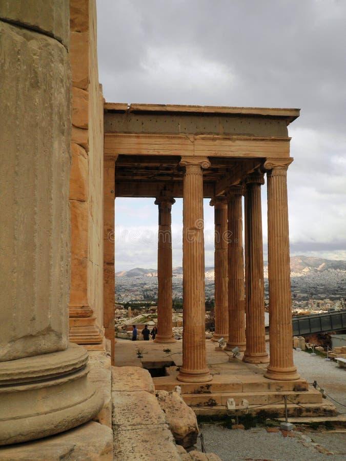 Tempel Athen Griechenland stockfotografie