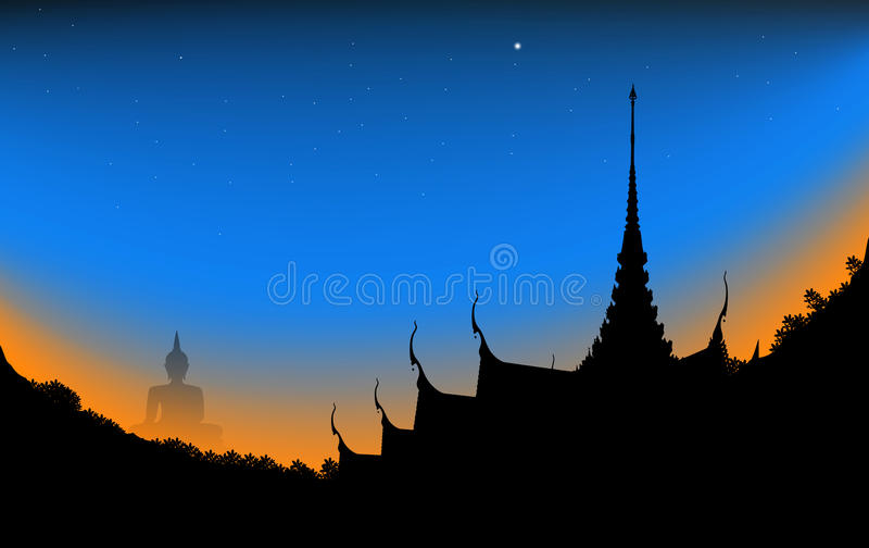 Tempel auf dem Berg lizenzfreie stockfotografie