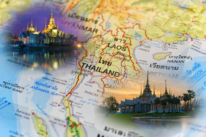 Tempel auf Khao Takeab Berg in Thailand lizenzfreies stockfoto
